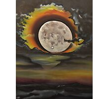 Birthday Moon -oil painting- alleyvision Photographic Print