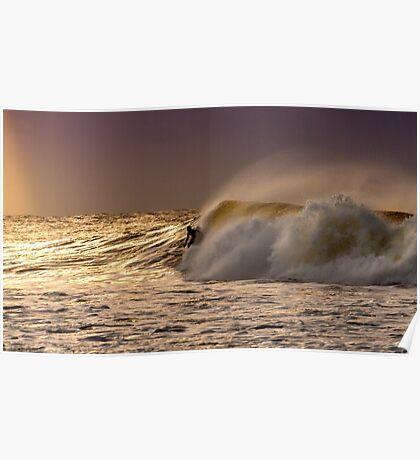 Bells Beach Sunrise Surfer Poster