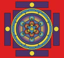 Metatron's Cube Merkaba Mandala Baby Tee