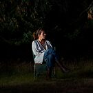Portrait in a forest. Seated. by gematrium