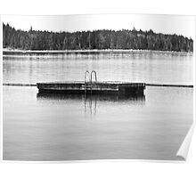 Dock of free floating fun Poster