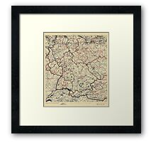 July 19, 1945 World War II Twelfth Army Group Situation Map Framed Print