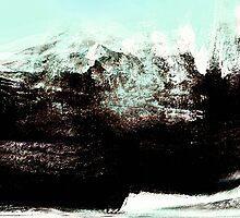 snow covered peaks above... raging sea below by banrai