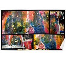 2012 Studio Play - Hand Painted Tissue Paper Poster