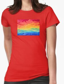 Be Love Rainbow Abstract Womens Fitted T-Shirt