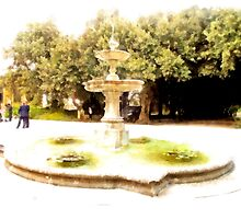 Castel Gandolfo: fountain in garden of the Villa Barberini by Giuseppe Cocco