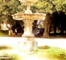 Castel Gandolfo: fountain in garden of the Villa Barberini Sticker