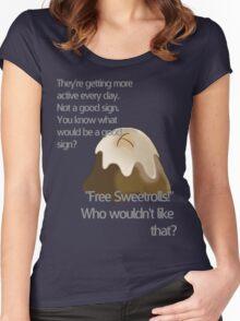 Free sweetrolls Women's Fitted Scoop T-Shirt