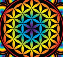Flower of Life Psychedelic Mandala Sticker