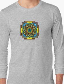 Flower of Life Psychedelic Mandala Long Sleeve T-Shirt