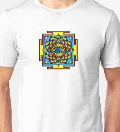 Flower of Life Psychedelic Mandala Unisex T-Shirt