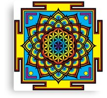 Flower of Life Psychedelic Mandala Canvas Print
