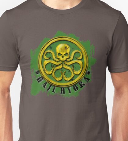 Hydra Gold on Green Unisex T-Shirt