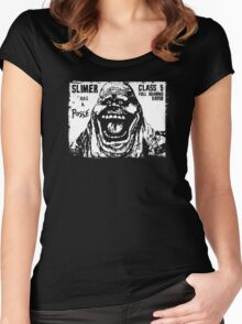 Slimer Has A Posse Women's Fitted Scoop T-Shirt