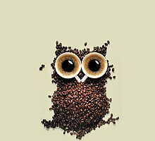 Cute Retro Coffee Kawaii Owl iphone 5, iphone 4 case or iphone 4s case by pointsalestore Corps