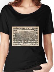 Panoramic Maps Milford Massachusetts 1888 Women's Relaxed Fit T-Shirt