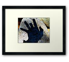 My Shadow Impression of a Snapping Turtle Examiner Framed Print