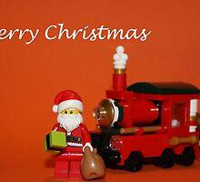Christmas Train - Santa by Kirk Arts