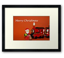 Christmas Train - Santa Framed Print