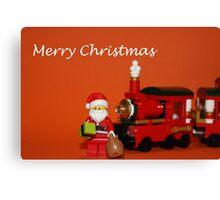 Christmas Train - Santa Canvas Print