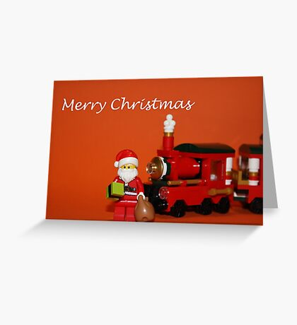 Christmas Train - Santa Greeting Card