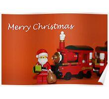 Christmas Train - Santa Poster