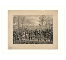 Capitulation & Surrender of Robert E. Lee & his Army at Appomattox Art Print