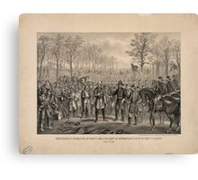 Capitulation & Surrender of Robert E. Lee & his Army at Appomattox Canvas Print