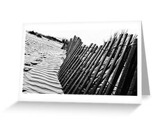 Dune Fence Greeting Card