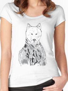 William D. Wolfington (The Gentleman Wolf) Women's Fitted Scoop T-Shirt