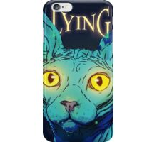 lying cat iPhone Case/Skin