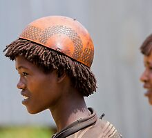 Africa, Ethiopia, Omo region, Ari Tribe child at the cattle market by PhotoStock-Isra