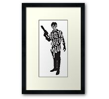 Here to Rescue You Framed Print