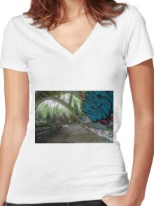 Nature meets Art Women's Fitted V-Neck T-Shirt