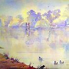 Early morn Jingellic n.s.w. australia by Audrey  Russill