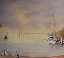 Early morn Orient Point near Nowra N.S.W. by Audrey  Russill