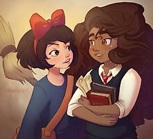 Kiki and Hermione by thefxgirl