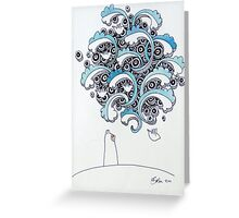 Hilltop series 2 - blue Greeting Card