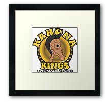 KAHUNA KINGS Cryptic Code Crackers Framed Print
