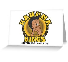 KAHUNA KINGS Cryptic Code Crackers Greeting Card