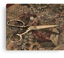 Granny's Scissors Canvas Print