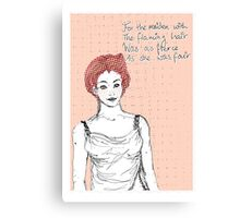 The maiden with the flaming hair Canvas Print