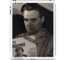1950s Man Reading Magazine iPad Case/Skin