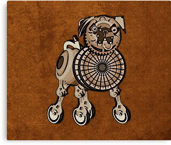 Steampunk Pug by evisionarts