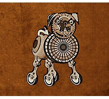 Steampunk Pug Photographic Print