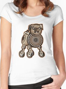 Steampunk Pug Women's Fitted Scoop T-Shirt