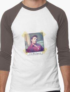 Ed Westwick retro Men's Baseball ¾ T-Shirt