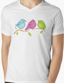 Three Birds Mens V-Neck T-Shirt
