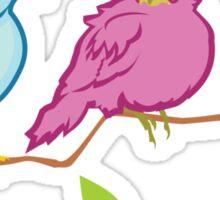 Three Birds Sticker