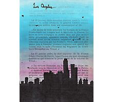 Los Angeles City Skyline Photographic Print